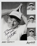 Music Memorabilia:Autographs and Signed Items, Jimmy Buffett Signed Black and White Photo....