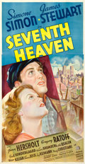 "Movie Posters:Romance, Seventh Heaven (20th Century Fox, 1937). Three Sheet (41"" X 78.5"")Style B.. ..."