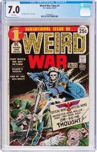 Weird War Tales #1 (DC, 1971) CGC FN/VF 7.0 White pages
