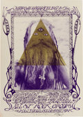"""Music Memorabilia:Posters, Allen Ginsberg/Timothy Leary Human Be-In """"A Gathering of theTribes"""" Poster AOR-2.217 Signed By Stanley Mouse (1967)...."""