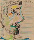 Fine Art - Work on Paper:Drawing, Pablo Picasso (1881-1973)Untitled (Profile)...