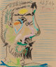 Pablo Picasso (1881-1973) Untitled (Profile) from the series Smoker, 1964 Pastel on paper 14-1/4 x 12 inches (36.... (1)
