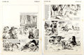 Arturo Castillo Film Fun Complete 2-Page Story  The Three Musketeers  Original A Comic Art