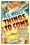 "Movie Posters:Science Fiction, Things to Come (United Artists, 1936). One Sheet (27.25"" X40.75"").. ..."