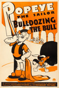 Movie Posters:Animation, Popeye in Bulldozing the Bull (Paramount, 1938). O...