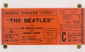 Music Memorabilia:Tickets, Beatles and Beach Boys Closed Circuit TV Concert Film Ticket....