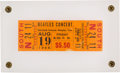 Music Memorabilia:Tickets, Beatles Mid-South Coliseum, Memphis, August 19, 1966 ConcertTicket....