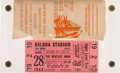 Music Memorabilia:Tickets, Beatles Balboa Stadium, San Diego, August 25, 1965 Concert TicketWith the Original Transmittal Envelope....