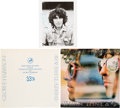 Music Memorabilia:Photos, George Harrison Signed Promotional Photograph Along With the Album Thirty Three & 1/3 (DH3005) and Promotional Alb... (Total: 3 Items)