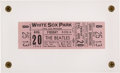 Music Memorabilia:Tickets, Beatles White Sox Park, Chicago, August 20, 1965 Lower GrandstandConcert Ticket....