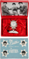 Music Memorabilia:Memorabilia, Beatles Brooch Watch in Original Box (UK - 1964)....