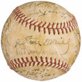 Autographs:Baseballs, 1948 Detroit Tigers Team Signed Baseball (29 Signatures).. ...