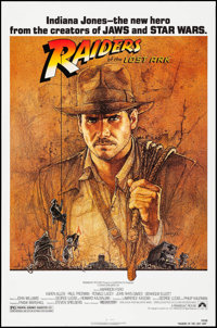 "Raiders of the Lost Ark (Paramount, 1981). One Sheet (27"" X 41"") Richard Amsel Artwork. Adventure"