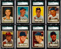 Baseball Cards:Singles (1950-1959), 1952 Topps Baseball High Number SGC 60 EX 5 Collection (18). ...(Total: 18 items)