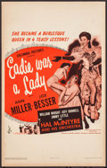 "Movie Posters:Musical, Eadie Was a Lady & Other Lot (Columbia, 1945). Window Cards (2)(14"" X 22""). Musical.. ... (Total: 2 Items)"