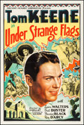 """Movie Posters:Western, Under Strange Flags (Crescent Pictures, 1937). One Sheet (27.5"""" X 41""""). Western.. ..."""