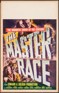"Movie Posters:War, The Master Race (RKO, 1944). Window Card (14"" X 22""). War.. ..."