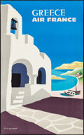 """Movie Posters:Miscellaneous, Air France: Greece (Air France, 1959). Travel Poster (24.25"""" X39.5""""). Miscellaneous.. ..."""