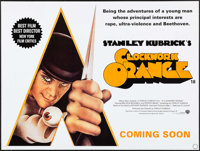 "A Clockwork Orange (Warner Brothers, R-2000). British Quad (30"" X 40"") SS Teaser Style, Philip Castle Artwork..."