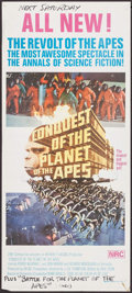"""Movie Posters:Science Fiction, Conquest of the Planet of the Apes (20th Century Fox, 1972).Australian Daybill (13"""" X 30""""). Science Fiction.. ..."""
