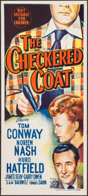 "The Checkered Coat (20th Century Fox, 1948). Folded, Very Fine+. Australian Daybill (13"" X 30""). Crime"