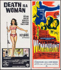 "Movie Posters:Mystery, Love is a Woman & Others Lot (Hemisphere Pictures, 1966).Australian Daybills (4) (13"" X 30"" - 13.5"" X 30""). AKA: Deathis... (Total: 4 Items)"