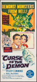 "Movie Posters:Horror, Curse of the Demon (Columbia, 1957). Australian Daybill (13"" X30""). Horror.. ..."