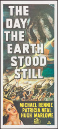 "Movie Posters:Science Fiction, The Day the Earth Stood Still (20th Century Fox, R-1970s).Australian Daybill (13"" X 30""). Science Fiction.. ..."