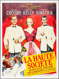 "High Society (MGM, R-1980s). French Grande (46"" X 62"") Roger Soubie Artwork. Musical"