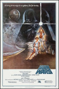 """Movie Posters:Science Fiction, Star Wars (20th Century Fox, 1977). 2nd Printing One Sheet (27"""" X41"""") Style A, Tom Jung Artwork. Science Fiction."""
