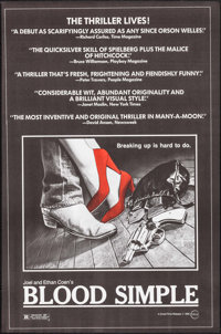 """Blood Simple (Circle Films, 1984). Posters (10) Identical (24"""" X 36.5""""). Thriller. ... (Total: 10 Items)"""