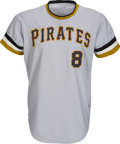 Baseball Collectibles:Uniforms, 1975 Willie Stargell Game Worn Pittsburgh Pirates Jersey &Pants, MEARS A10....