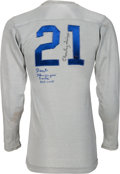 Football Collectibles:Uniforms, 1950's Dante Lavelli and Charley Trippi Signed Vintage Jersey....