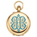 Estate Jewelry:Watches, Enamel, Gold Pocket Watch. ...