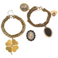 Estate Jewelry:Lots, Seed Pearl, Black Onyx, Gold, Yellow Metal Jewelry. ... (Total: 3Items)