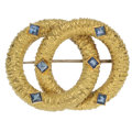 Estate Jewelry:Brooches - Pins, Sapphire, Gold Brooch, Tiffany & Co. . ...