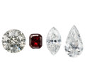 Estate Jewelry:Unmounted Diamonds, Unmounted Diamonds. ... (Total: 4 Items)