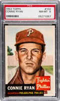 Baseball Cards:Singles (1950-1959), 1953 Topps Connie Ryan #102 PSA NM-MT 8 - Only Two Higher....
