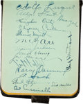 Baseball Collectibles:Others, 1935 Autograph Book Obtained by Rabbit Maranville with 187 Signatures Including Ott, Bottomley, Dean, Medwick & Wagner. . ...