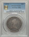 Early Half Dollars, 1795 50C 2 Leaves, O-105a, T-25, R.4, VG10 PCGS Secure....