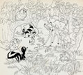 Animation Art:Production Drawing, Bambi Book Illustrations Group of 4 (Walt Disney, c.1970s-80s).... (Total: 4 Original Art)