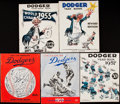 Baseball Collectibles:Publications, 1955-59 Brooklyn/Los Angeles Dodgers Yearbook Lot of 5....