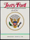 Autographs:Others, President Gerald Ford Signed Golf Tournament Program.. ...