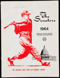 Autographs:Others, 1964 Washington Senators Multi-Signed Program (4 Signatures).. ...