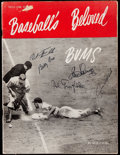 "Autographs:Others, ""Baseball's Beloved Bums"" Multi-Signed Brooklyn Dodgers Magazine....."
