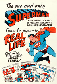 "Superman (Columbia, 1948). One Sheet (28"" X 42"") Teaser Comic Book Style"