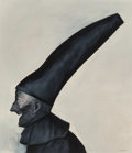 Paintings, Rafael Coronel (b. 1932). Untitled (Man with hat). Oil on board. 29-1/2 x 25-1/2 inches (74.9 x 64.8 cm). Signed lower r...