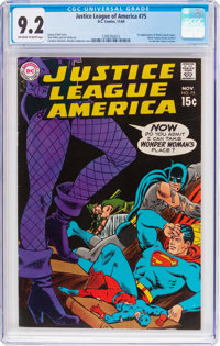 Justice League of America #75 (DC, 1969) CGC NM- 9.2 Off-white to white pages