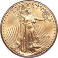 Errors, 1999 $50 One-Ounce Gold Eagle -- Struck Through Reverse -- MS69 PCGS Secure....