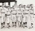 Baseball Collectibles:Photos, 1932 New York Giants Outfielders Original News Photograph with Ott, PSA/DNA Type 1. . ...